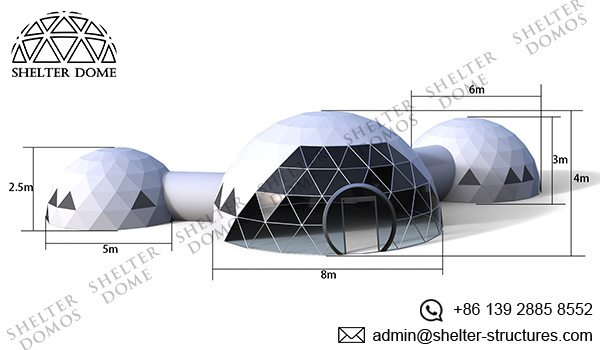 568m Geodesic Domes with Walkway Tunnels (1)